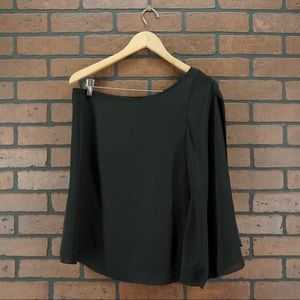 BLAQUE LABEL One Shoulder Blouse Black Size